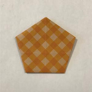 五角形の手紙折り