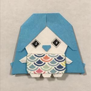 折り紙でアマビエ(3)