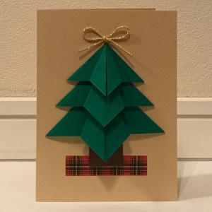 クリスマスツリーのカード(1)