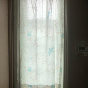 キッチンのカーテン、今度こそ完成!