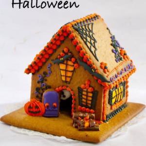 ハロウィンのお菓子の家
