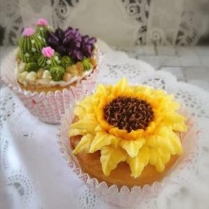 ひまわりのカップケーキ