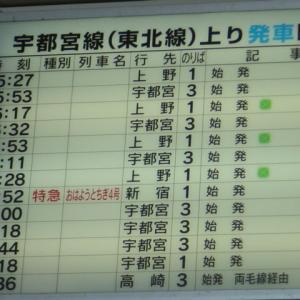 黒磯駅時刻表(2007年)