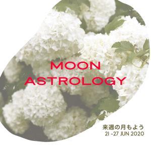 来週の月もよう。1200621-0627*月は蟹座〜乙女座を運行【蟹座で部分日食の新月】