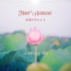 来週の月もよう。200628-0704*月は天秤座〜射手座を運行【天秤座で上弦の月】
