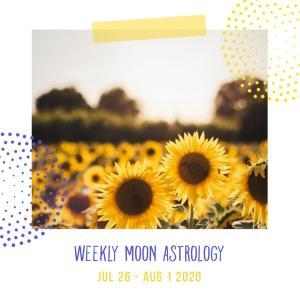 来週の月もよう。200726-0801*月は天秤座〜射手座を運行【蠍座で上弦の月】