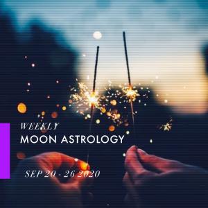 来週の月もよう。100920-0926*月は蠍座〜山羊座を運行【山羊座で上弦の月】