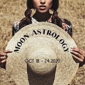 来週の月もよう。20201018-1025*月は蠍座〜山羊座を運行【水瓶座で上弦の月】