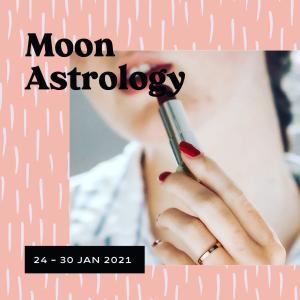 来週の月もよう。210124-0130*月は双子座〜獅子座を運行【獅子座で満月】