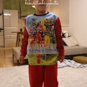 *戦隊ものまっしぐらな息子 リュウソウジャー光るパジャマにゼロワンケーキ*