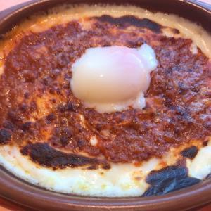 サイゼの半熟卵のミラノ風ドリアをやっと食べました