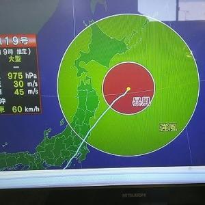 KAIヴィキ地方は台風一過だけど。。。