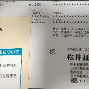 松井証券から配当金がきました