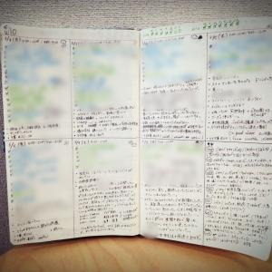 【手帳】バレットジャーナル10週め(3/2~3/8)