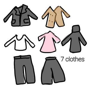 【衣服】冬服9着と、制服化。