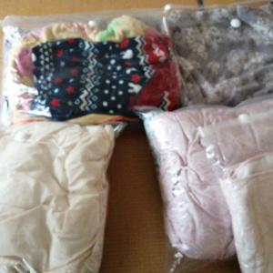 冬布団をしまう、夏布団の代用。