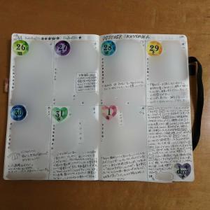 手帳の中身(バレットジャーナル44週め)&ネットプリントが楽しい