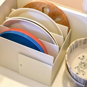 【無印良品】仕切り板×ダイソー商品で作るストレスなしの食器収納