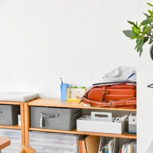 【子供と暮らす】次男が中学生に!無印良品で作る学習収納スペース・3人分を見直しました。