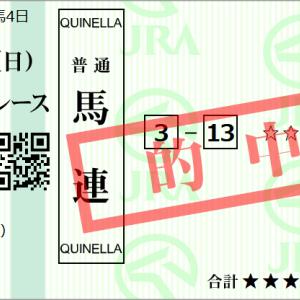 【的中速報】4,730円
