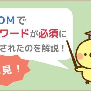 【必読!】ZOOMでパスワードが必須になった事の解説&対処法をお伝え❤