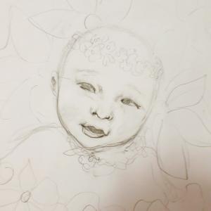 描き始める前のイメージ。