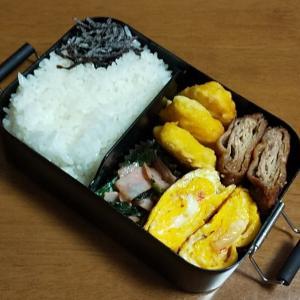 今日のお弁当と片付け予定。