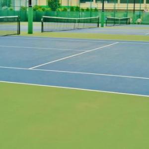 私がテニスをしようとすると