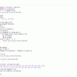 TypeScript3日目 囲碁クエストの棋譜データから終局時の盤面を作成
