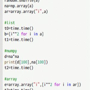 配列の二乗 numpyが10倍速
