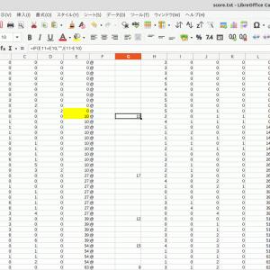 LibreOfficeでセルにIF文を使って変異点を抽出してみる