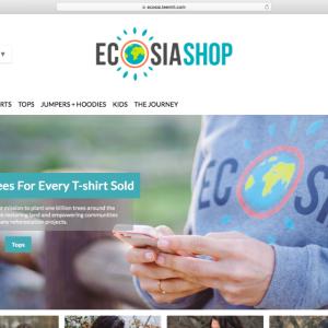 シャツを買う度に20本の木が植えられるECOSIA SHOP