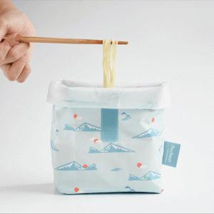 おにぎりもラーメンも入れられる食品袋 【Pockeat】