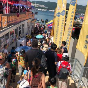 香港  Aberdeenのドラゴンボートレース その2