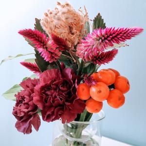 花活 −秋 ハロウィンカラーを取り入れて−