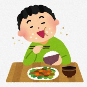 息子の食事中のマナー・・