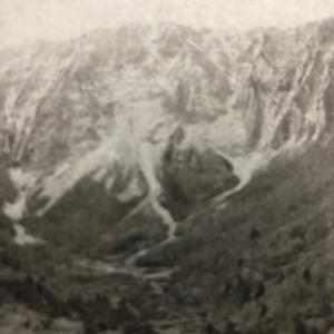 大山に初雪