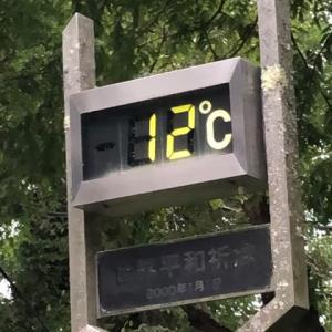 金剛山山頂は気温10度近く