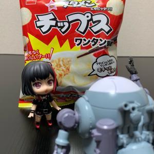 (〃´д` )ノ{…お菓子だよ(笑)【ブタメン チップス ワンタン風味】