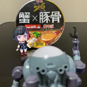 『カップ麺』(〃´д` )ノ{…明星♪【東京crab台風。監修 蟹そば】