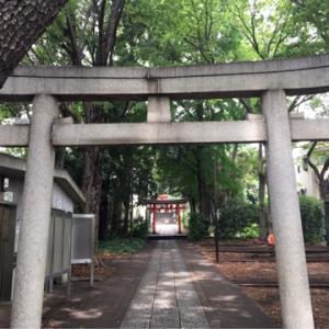 『はる散歩』(〃´д` ){…モスキートが←【目黒区•自由が丘熊野神社】