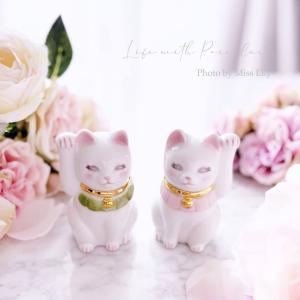 初絵付けとは思えない!ウィーンローズの招き猫 埼玉 浦和 ポーセラーツサロン ミスリリー