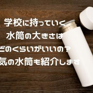 学校に持っていく水筒の大きさはどのくらいがいいの?人気の水筒も紹介します