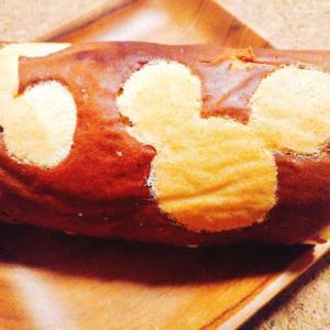 【簡単レシピ】ミッキーの模様入りロールケーキを作ってみた