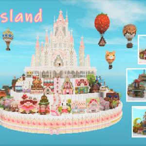 MiniaTuriaでみゅーずケーキ島を作る(配布ワールド)