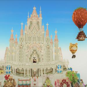 みゅーずケーキ島にお城を作る(お城の作り方)