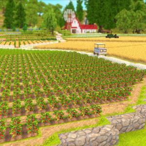 チュリニア島に農場と花の広場を作る