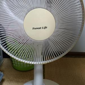扇風機、直りました。