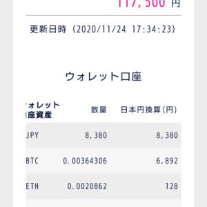 2020年11月24日の仮想通貨