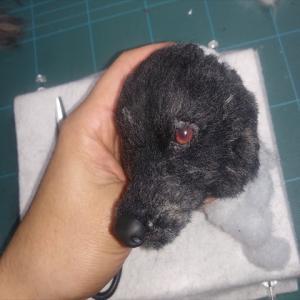 「虎毛」の甲斐犬の作製に入りました!ハンドメイド、羊毛フェルト、オーダー